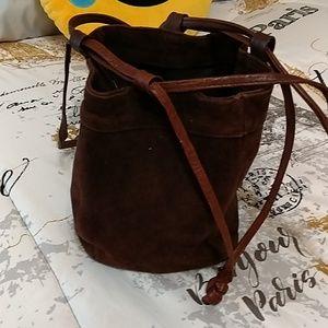 Handbags - Brown suede bag